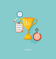 winners award with icons vector image vector image