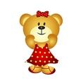Cute Cartoon Girl Bear vector image