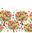 Seamless pattern of stylized autumn trees for vector image