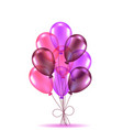 composition of pink ballons vector image