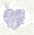 Happy Heart of doodle ornament in zentangle style vector image