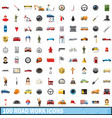 100 road work icons set cartoon style vector image vector image