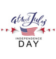 4 the july independence day handwritten vector image vector image