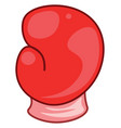 a red boxing gloves color vector image
