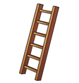 a wooden ladder vector image