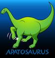 Apatosaurus cute character dinosaurs vector image vector image