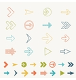 Arrow sign icon set doodle hand draw of web design vector image vector image