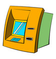 atm icon cartoon vector image vector image