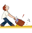 back to school with heavy bag vector image vector image