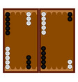 backgammon game on white background vector image vector image