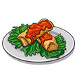 baked pancakes vector image vector image