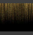 black background with falling golden sparkles vector image