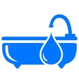 blue bathroom symbol vector image