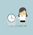 businesswoman buy time concept vector image vector image
