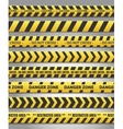 Caution yelow tape set vector image