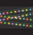 christmas lights effectsgarlands vector image