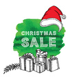 Christmas Poster Sale vector image
