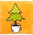 Christmas Tree Cartoon vector image vector image