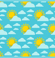 clouds sun weather cloudy summer blue sky vector image vector image
