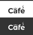 coffee cafe logo coffee cup and bean label on vector image