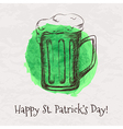 colorful hand drawn sketch beer mug fo vector image