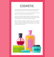 cosmetic products vertical advertisement banner vector image vector image