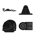design of car and rally sign set of car vector image