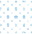 device icons pattern seamless white background vector image vector image