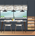 dining room design vector image vector image