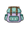 doodle backpack travel style to expedition tourist vector image vector image