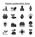 eco friendly nature conservation environmentalist vector image vector image