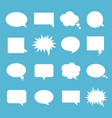 empty talk bubble set vector image