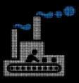 fabric building halftone icon vector image vector image