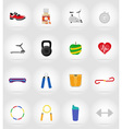 fitness flat icons 17 vector image vector image