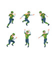 football players isometric sport characters vector image vector image
