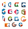 g letter icons template company brand name vector image vector image