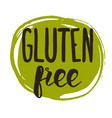 gluten free hand drawn isolated label vector image vector image