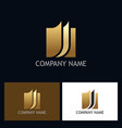 gold document business logo vector image