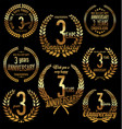 golden laurel wreath anniversary collection 3