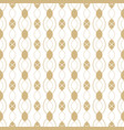 golden linear seamless pattern with chains ovals vector image