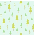 Green spruces seamless pattern vector image vector image