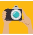 hand photographer photocamera icon design graphic vector image vector image