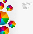 Heptagon Modern abstract colorful background vector image