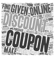 How To Find Coupons Online That Save You Money vector image vector image
