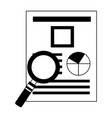 human resources paper informaton magnifying glass vector image