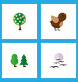 icon flat bio set of garden birds sparrow and vector image