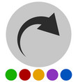 icon with curved arrow fold twist rotate concept