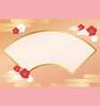 japanese new years greeting card template vector image vector image