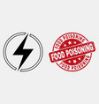 line electricity icon and scratched food vector image vector image