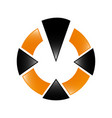 logo design business circle design icons vector image vector image